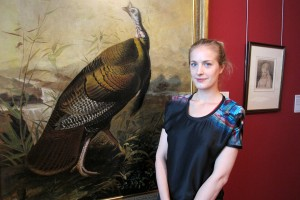 Polly Morgan in the Audubon Room, Victoria Gallery, 2012