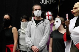 Staged protest, James Newitt 2012