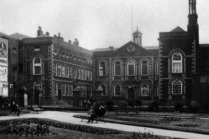 Bluecoat Chambers from St Peter's church gardens