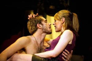 Suranne Jones (Sandra) and Oliver Farnworth (Tony) in Beautiful Thing