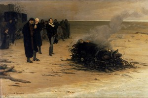 Louis Edouard Fournier's The Funeral of Shelley