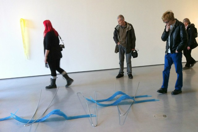 LJMU Fine Art MA visiting The Hepworth art gallery