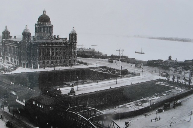 Liverpool Waterfront, pre-Royal Liver Building, 1907