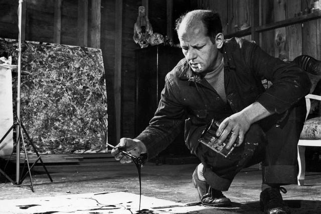Jackson Pollock (image courtesy Life Magazine)