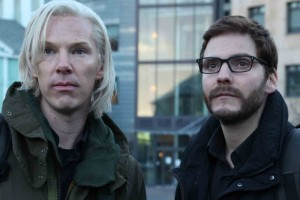 Benedict Cumberbatch (Assange) and Daniel Brühl (Berg) in The Fifth Estate