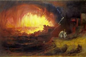 John Martin's The Destruction of Sodom and Gomorrah (1852)