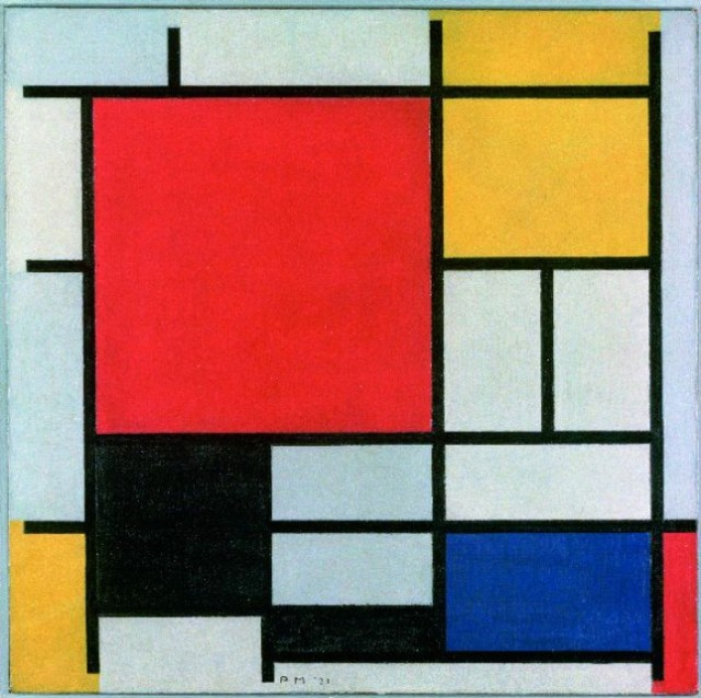 Piet Mondrian No. VI/Composition No. II 1920 Oil paint on canvas 997 x 1003 mm   © 2013 Mondrian/Holtzman Trust c/o HCR International.