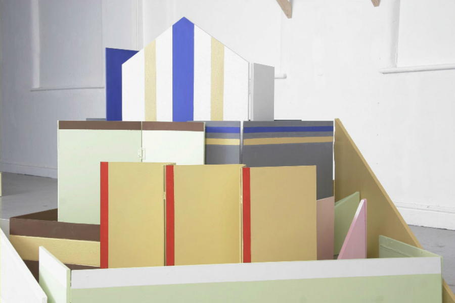 Jenny Steele, When buildings stand up/when buildings fall down, 2013