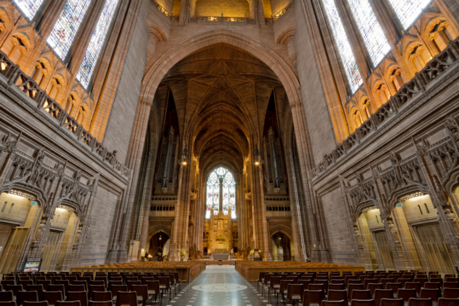 Liverpool Anglican Cathedral, interior (image via wiki)