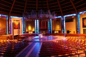 Liverpool Metropolitan Cathedral, interior (image via wiki)