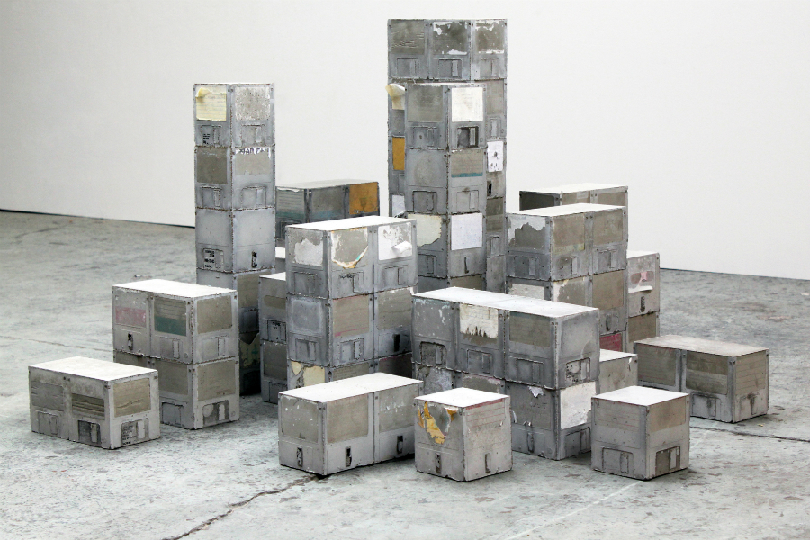 Robin Tarbet, Data Blocks (2011) Cast Concrete.