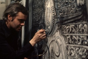 H.R. Giger at work in 1978