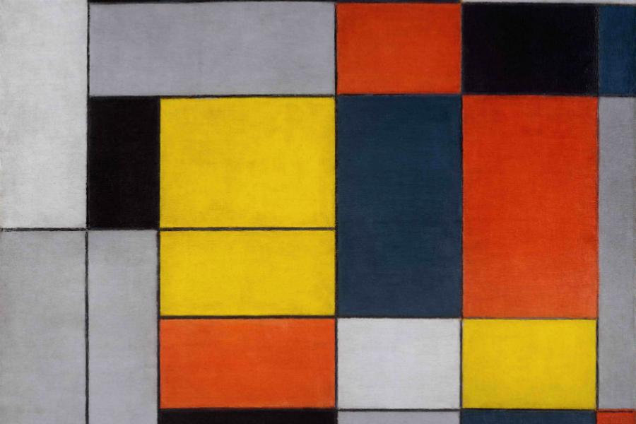 Piet Mondrian, 1872-1944 No. VI / Composition No.II 1920 Oil paint on canvas 997 x 1003 mm   Tate. © Tate Photography, 2014. © 2014 Mondrian/Holtzman Trust c/o HCR International USA