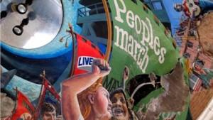 Trade Union Building Mural, as seen in Liverpool Biennial 2014's Old Blind School venue