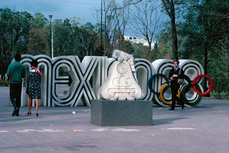 Lance Wyman's classic Mexico Olympics 68