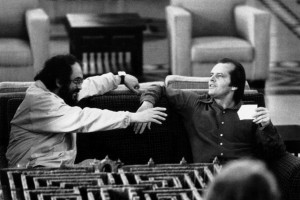 Kubrick on set with Jack Nicholson, The Shining: Private View: Stanley Kubrick: New Perspectives 6–8pm @ WORK Gallery, London