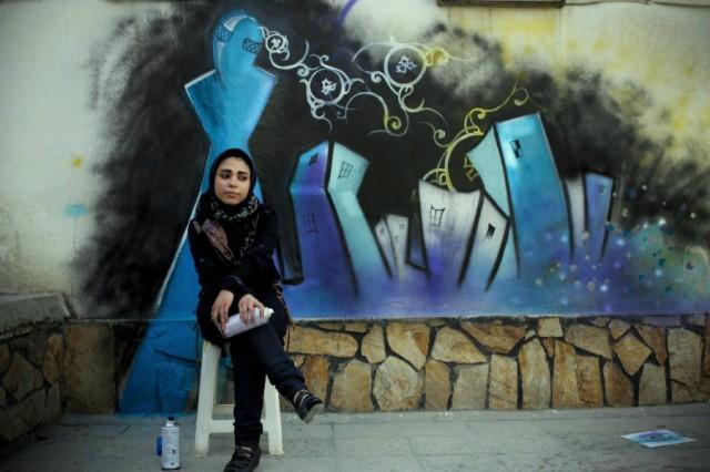 Street artist, Shamsia Hassani