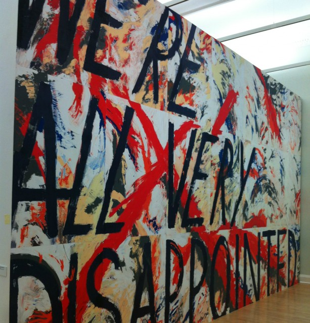 Alice Hartley's 'We're All Very Disappointed' (2013, detail)