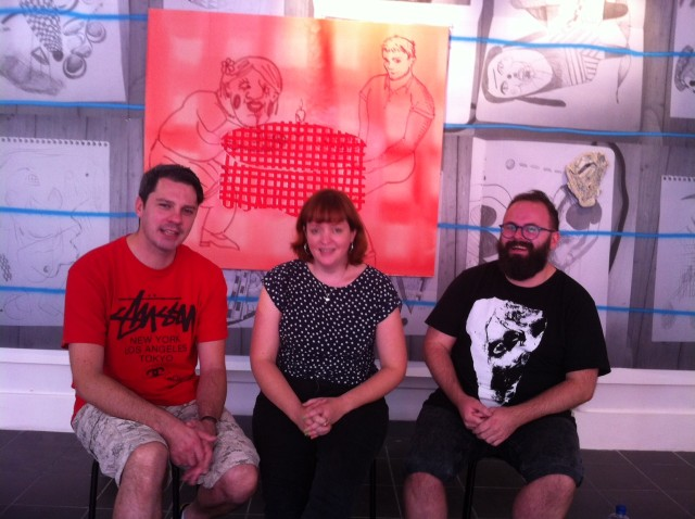Model Liverpool, Founders: L-R: Dave Evans, Fran Disley, Kevin Hunt