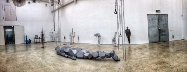 Antony Gormley's studio, 2014. Image courtesy Pete Goodbody (@p3dro)