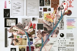 Frances Stark, 'Arrangement for my Better Half' (detail), Collage on color proof, 2010; originally made for the back cover of Dot Dot Dot 20, 2010   Courtesy The Serving Library