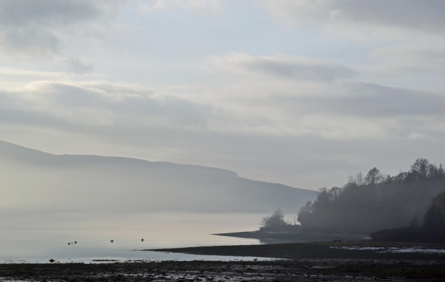 Misty Loch Fyne: View from the Oyster Bar, by Richard Hunt Smith. https://www.blipfoto.com/richard