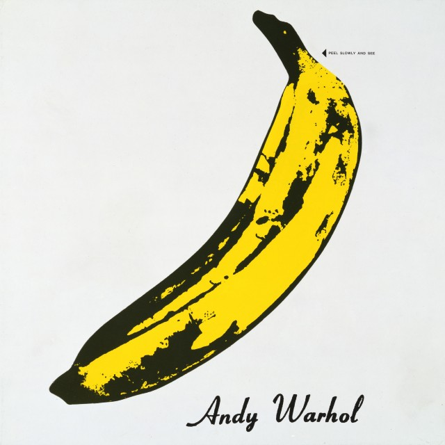 The Velvet Underground and Nico 1967 Album cover design by Andy Warhol   Collection of The Andy Warhol Museum, Pittsburgh © 2014 The Andy Warhol Foundation for the Visual Arts, Inc. / Artists Rights Society (ARS), New York and DACS, London