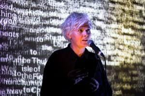 Caroline Bergvall performance, 24 Kitchen Street, Syndrome