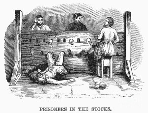 Prisoners in the stocks --- Granger