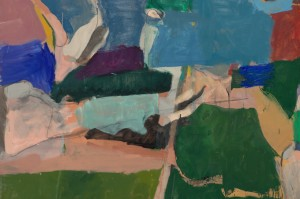 Richard Diebenkorn, Berkeley #5, 1953. Oil on canvas, 134.6 x 134.6 cm. Private collection. Copyright 2014 The Richard Diebenkorn Foundation