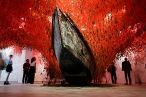 Chiharu Shiota - The Key in the Hand, 2015. Image courtesy Robert Battersby, La Biennale di Venezia 2015