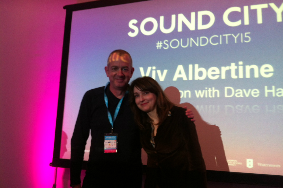 Dave Haslam (L) and Viv Albertine