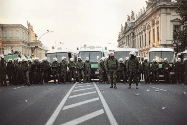 Josephine Meckseper Untitled (Berlin Demonstration, Police Brigade)