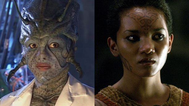Chipo Chung as Chantho in Doctor Who and Vivien in Camelot (Pics: BBC, Starz)