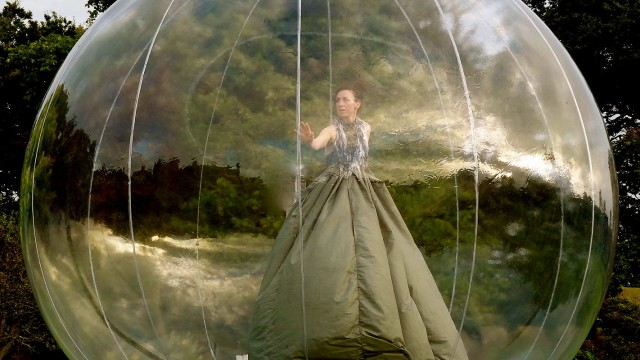 Becs Andrews: Terrarium was a duet danced in an inflatable bubble in rural outdoor locations on North York Moors and the Cornish coast.