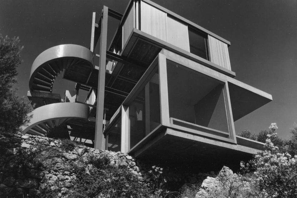 Maison de Bloc au Cap d' Antibes 1959–1962, photo de Gilles Ehrmann © Claude Parent