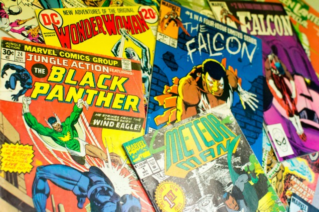 Comic book selection: Credit: 'Courtesy of Jon Daniel and National Museums Liverpool'
