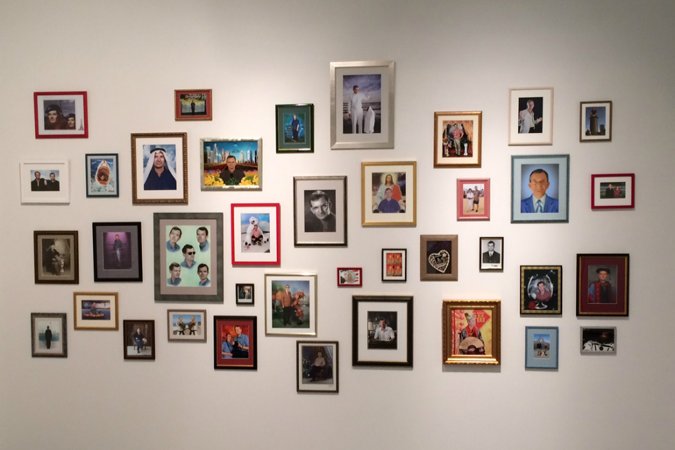 Autoportrait by Martin Parr (install shot, Firstsite). All images by Martin Parr/Magnum Photos