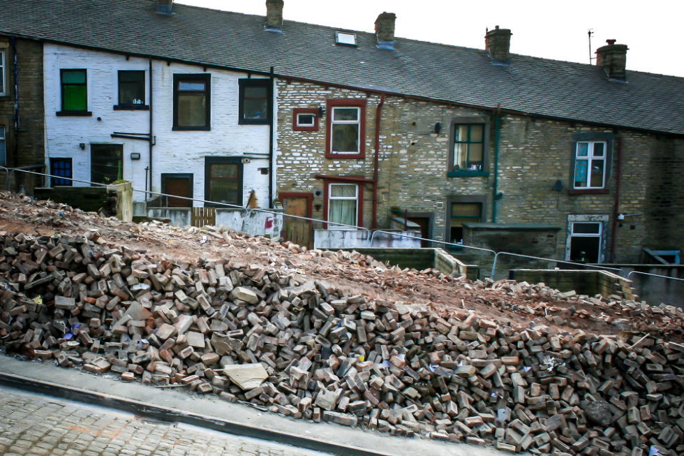 Artist William Titley's ongoing project Demolition Street