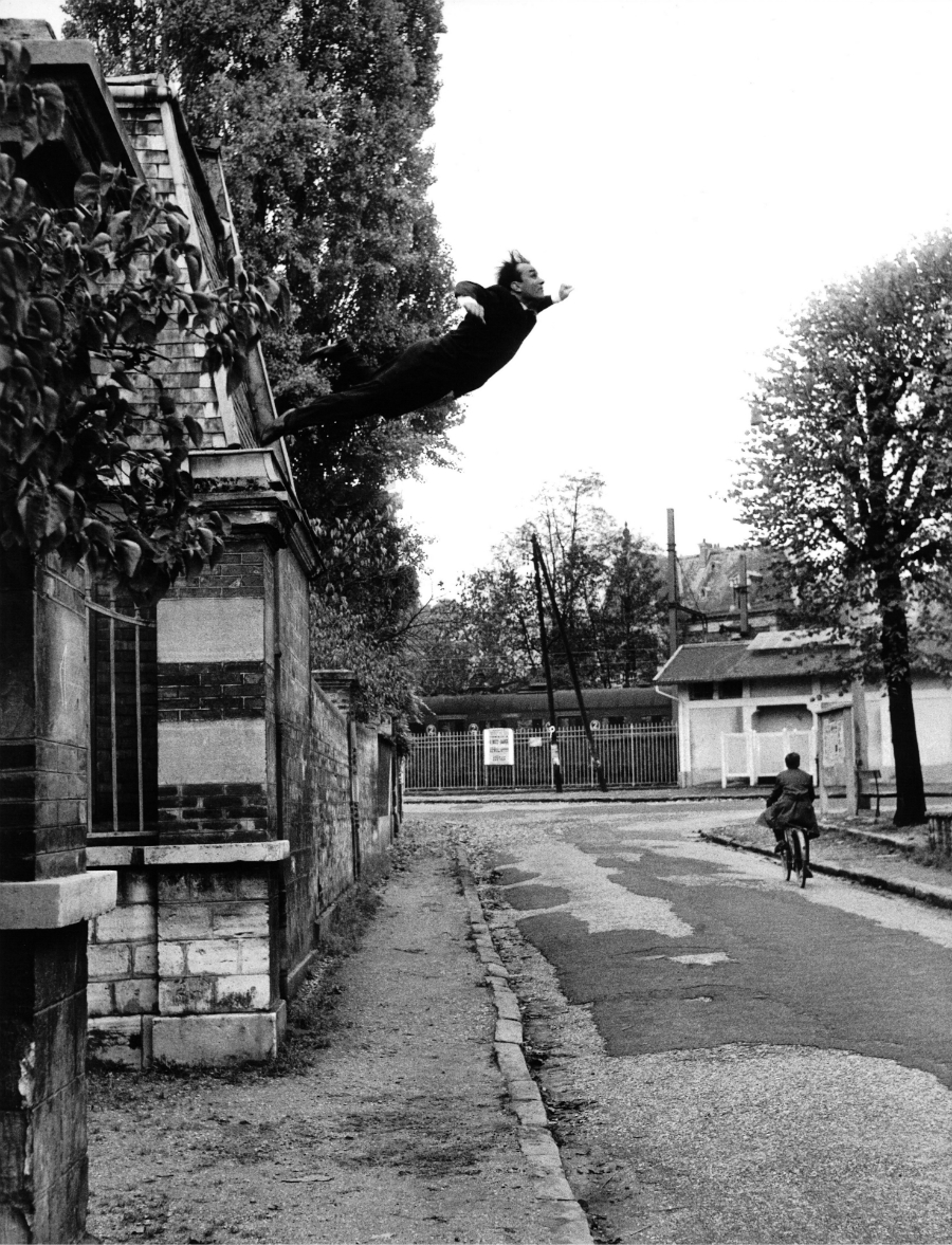"Harry Shunk, 1924-2006 and János Kender, 1938 – 2009 Yves Klein's ""Leap Into the Void,"" Fontenay-aux Roses, France, 1960 October 23 1960 (Yves Klein's ""Saut dans le Vide,"" Fontenay-aux Roses, France, 1960 October 23) 1960 Harry Shunk and Shunk-Kender photographs"