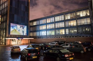 The Invisible City: The Cinema of Surveillance -- a site specific cinema event, in collaboration with Abandon Normal Devices (AND) and Alexandra Park (St Helens) Management Limited, the former Pilkington Glass headquarters. November 2016