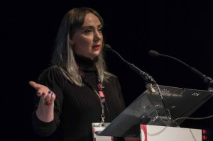 Jessica Turtle, speaking at No Boundaries 2017