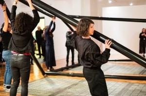 Activating Audrey Cottin, Lift Me, 2011 at the launch of Encounters, Bury Art Museum & Sculpture Centre. Photo: Pete Carr © Liverpool Biennial