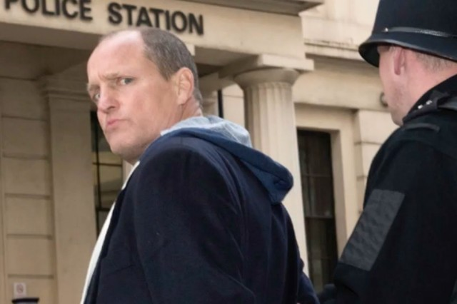 Woody Harrelson filming Lost in London 2017