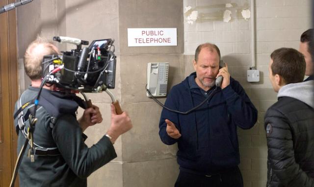 Woody Harrelson filming Lost in London 2017