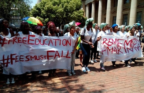 #FeesMustFall protests, courtesy Afrika Reporter