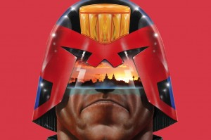 Image from Beyond Dredd & Watchmen: The Art of John Higgins, until October 2017 at the Victoria Gallery and Museum, Liverpool. Judge Dredd®. © 2017 Rebellion A/S. All rights reserved. Judge Dredd is a registered trademark