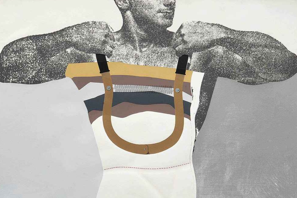 Richard Hamilton, Adonis in Y-Fronts, 1963, © The estate of Richard Hamilton. Part of Pop Art In Print at The Old Chester Library Building -- FREE