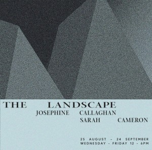 Friday – Exhibition Opening: The Landscape: Josephine Callaghan & Sarah Cameron @ Cubitt, London – FREE