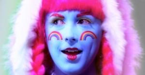 Rachel Mclean, still, Over the Rainbow, courtesy the artist